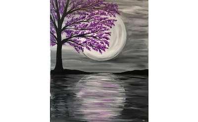 Moonlit Spring Paint & Sip