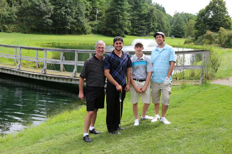 a group of golfers