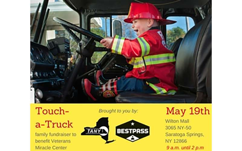 kid in truck event poster