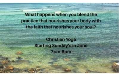 christian yoga poster