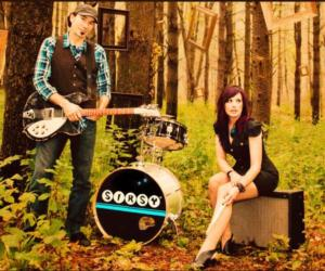 promo image of two members of the band