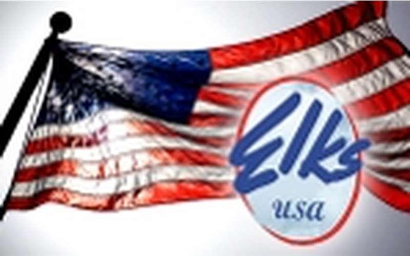 elks logo and flag