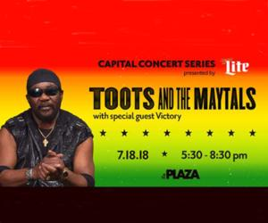 poster announcing Toots and the Maytals
