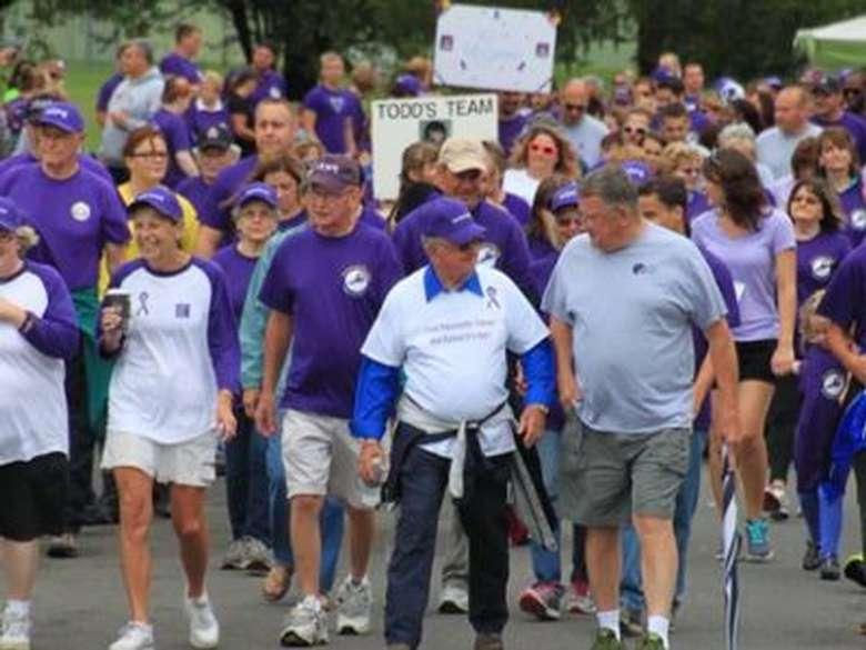 crowd of walkers
