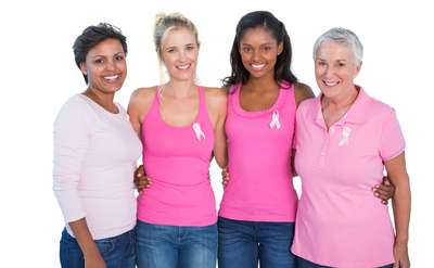 Photo of group of women in pink shirts