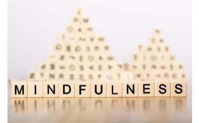 "Photo of blocks spelling word ""mindfulness"""