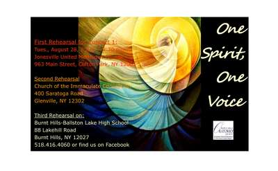 One Spirit One Voice poster