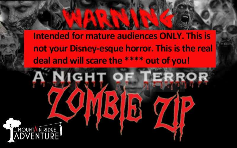 Advertisement for Zombie Zip Line