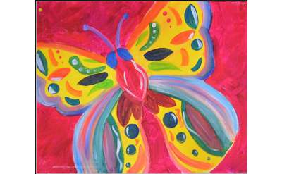 painting of a colorful butterfly