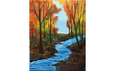 Autumn Stream Paint & Sip