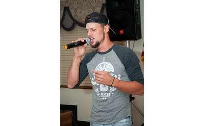 guy singing karaoke