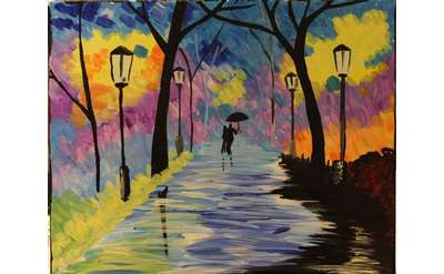 walk in park painting