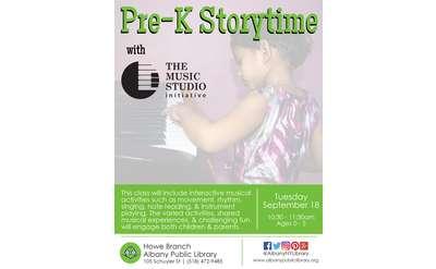 pre-k storytime event