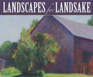painting with text that says landscapes for landsake