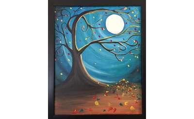 Autumn Moon painting