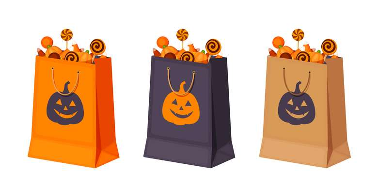 trick-or-treating bags