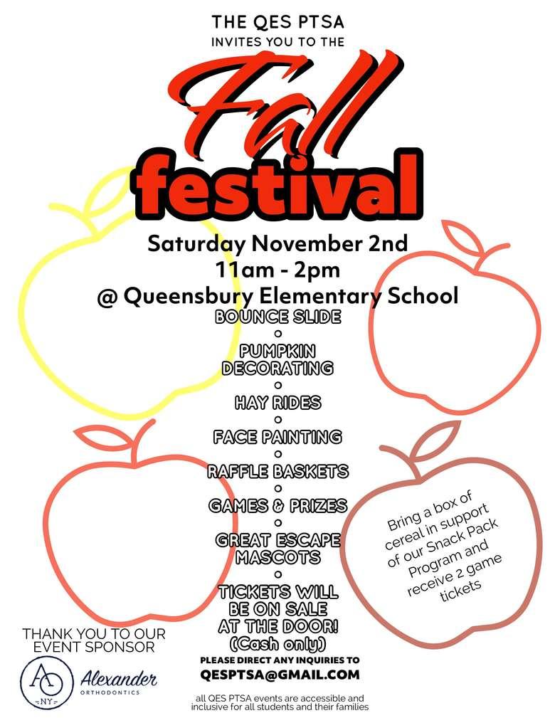 QES Fall Festival Invitation