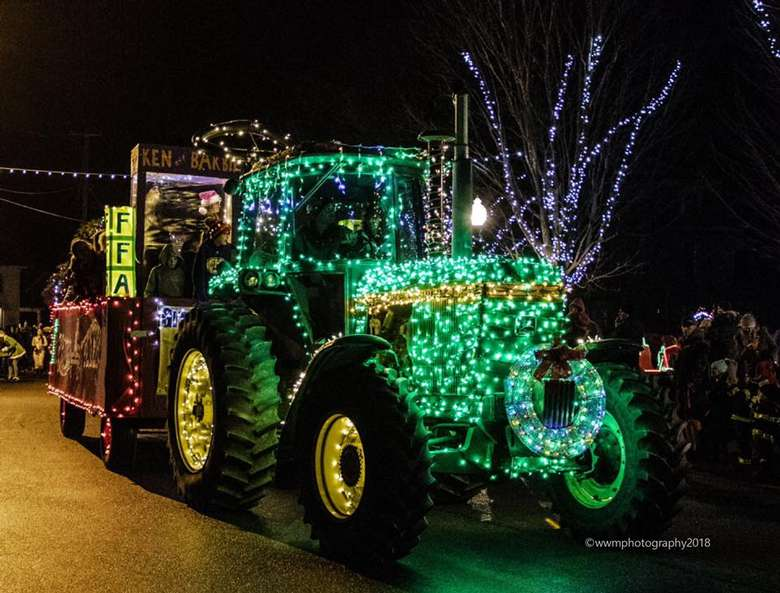 tractor lit up
