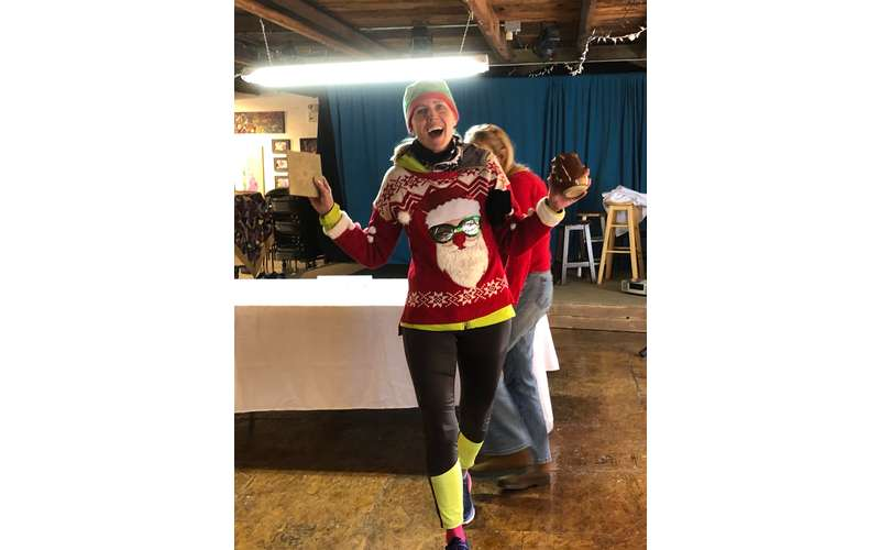 woman with ugly sweater