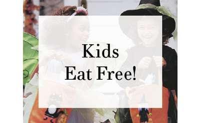 Kids Eat Free! Halloween Poster