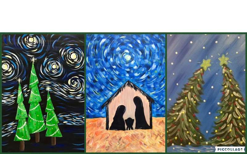 Homeschool Art Series - Middle/High School- Christmas on Canvas! (1)