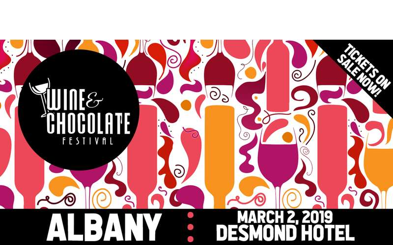 Promotional Banner for the Albany Wine & Chocolate Festival