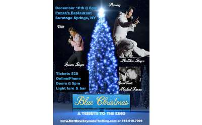 Poster for Blue Christmas Tribute Event