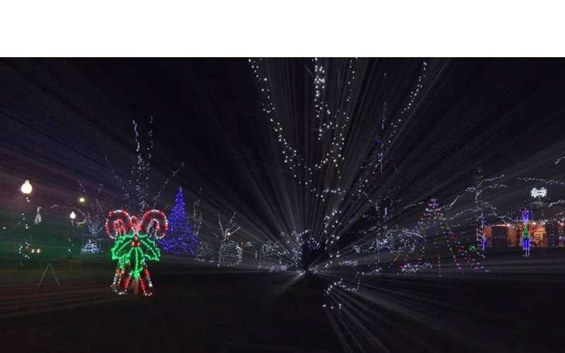 holiday lights show in park