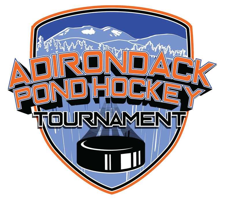 adirondack pond hockey tournament logo
