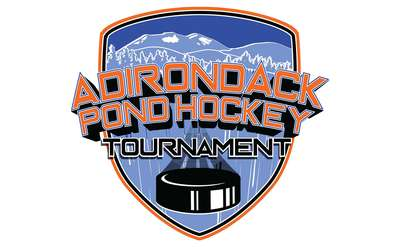 adirondack pond hockey tournament logo