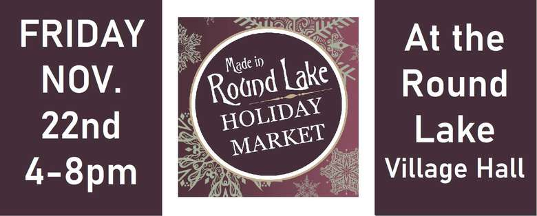 Round Lake Holiday Market Banner