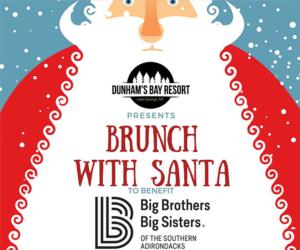 flyer advertising brunch with santa