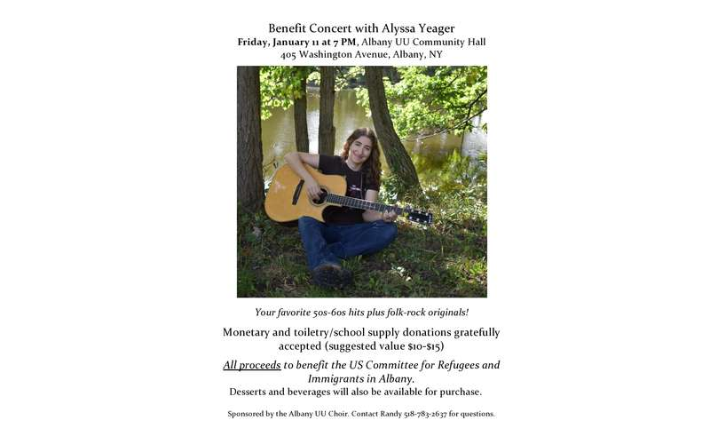Poster for Benefit Concert with Alyssa Yeager