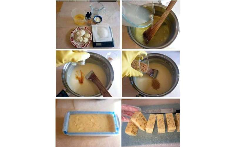 Photo of the process to create soap