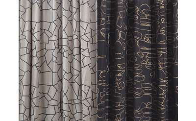 black and gray curtains image