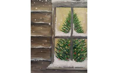 "Example painting of ""Cozy Christmas"""