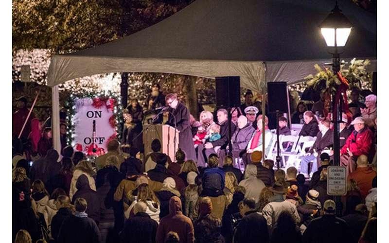 Photo of crowd at Christmas Tree Lighting