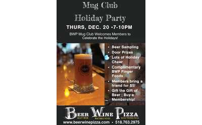 Poster for Mug Club Holiday Party