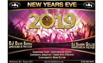 Promotional Image for New Year's Eve at Waterworks Pub