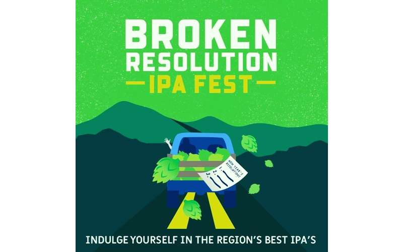 Promotional Banner for Broken Resolution IPA Fest