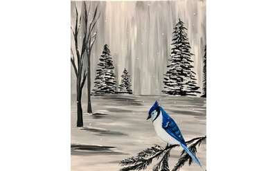 Winter Blues Paint & Sip