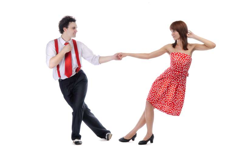 Photo of two people dancing