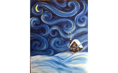 Starry Cabin Paint & Sip