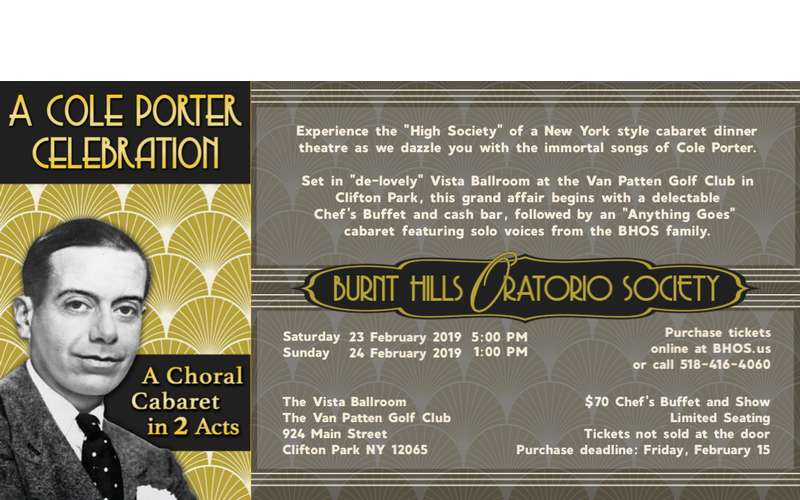 Promotional Banner for A Cole Porter Celebration