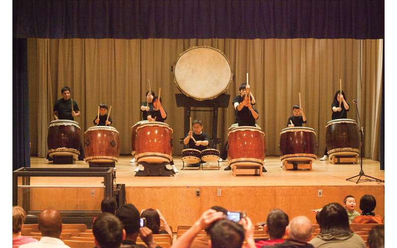 Photo of the OMNY Taiko Drummers
