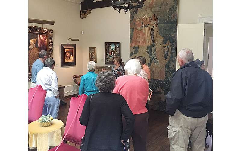 Photo of people on the docent tour