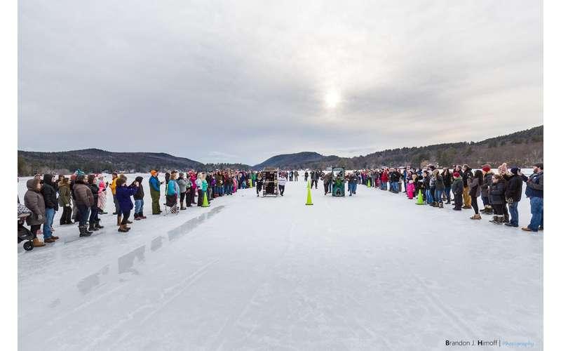 Photo of ice racing