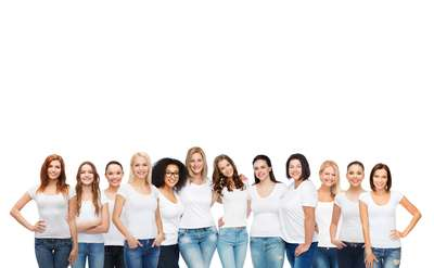 Photo of group of people wearing white t-shirts