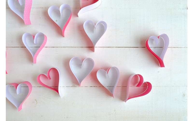 Photo of paper hearts
