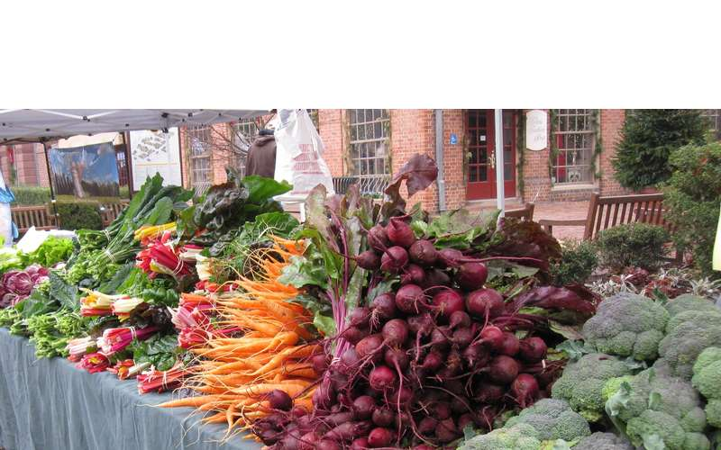 Photo of table of produce